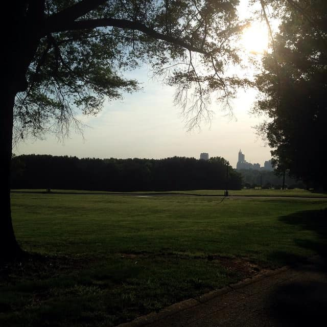 View of Raleigh from the historic Dorothea Dix Hospital campus (Credit: Alisa Herr / EdNC)